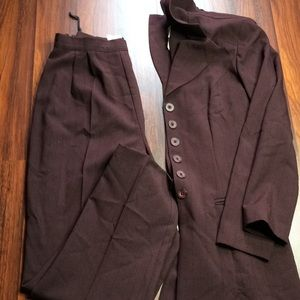 Purple Plum Stripe Pant Suit T1